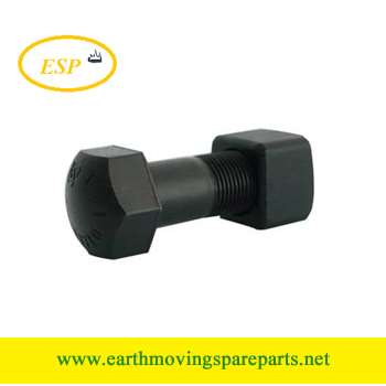 high strength Grade12.9 track bolt for bulldozer Caterpillar&Komatsu