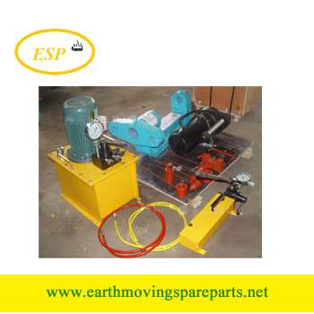 C type portable track press machine
